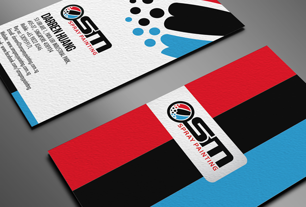 Osm Spray Painting Business Card Logo Identity Fribly