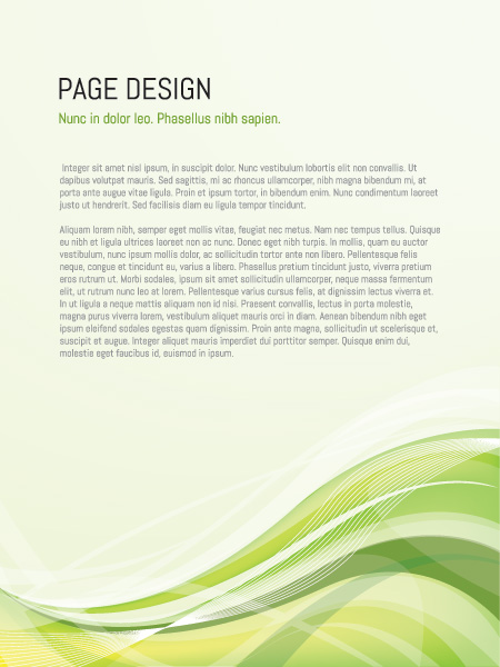 page design vector graphic - freebies