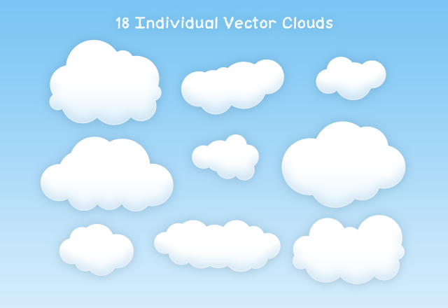 Free Vector Clouds Freebies Fribly