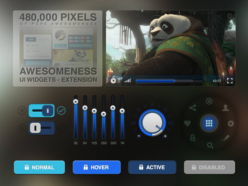 Awesomeness UI Widgets Extension