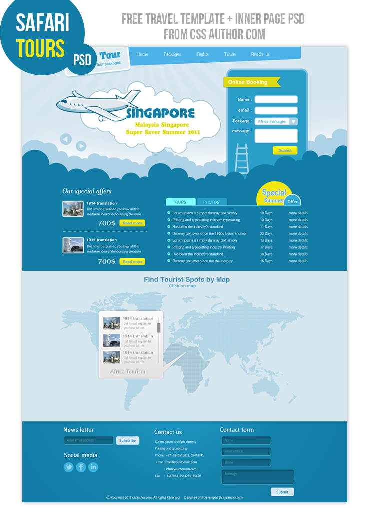free web design templates - travel web design template freebies fribly