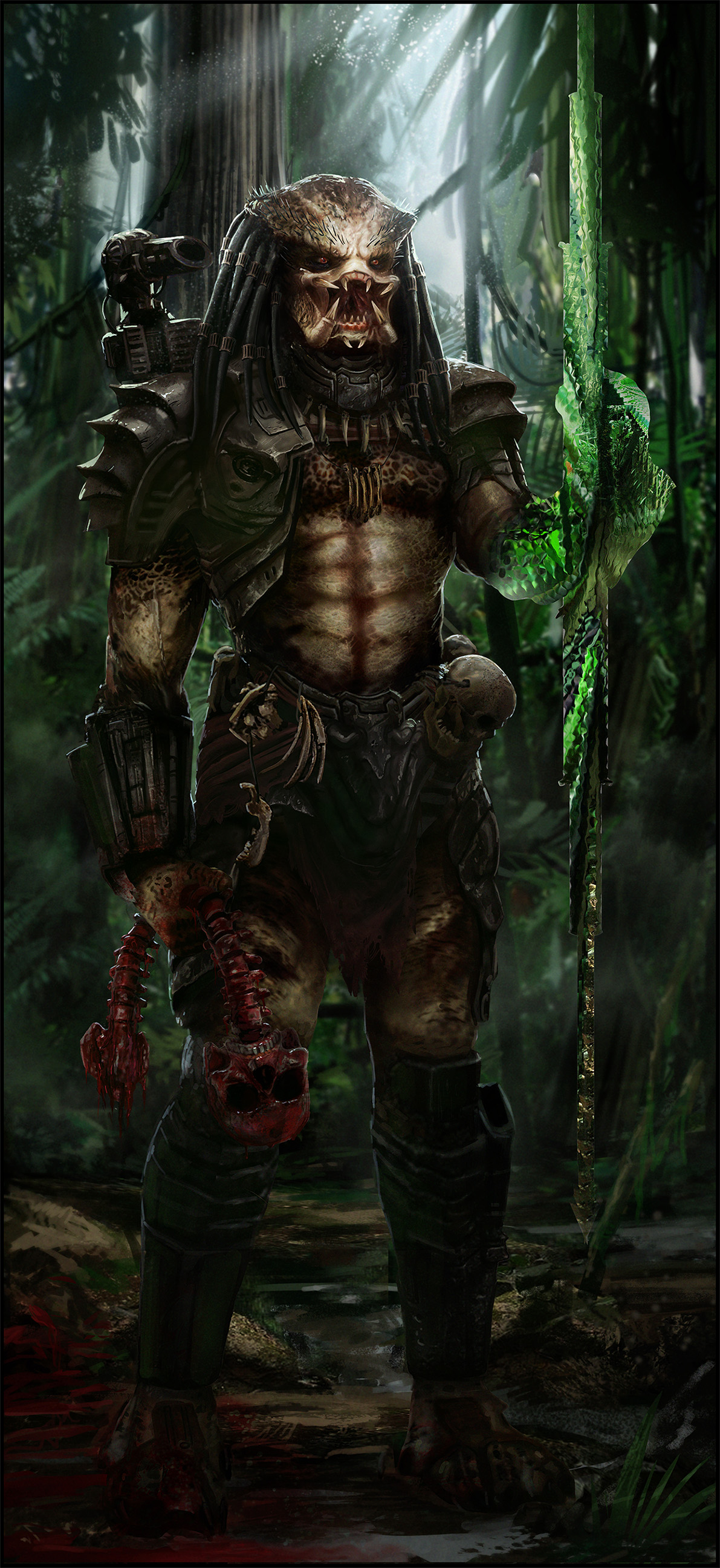 predator jungle - digital art