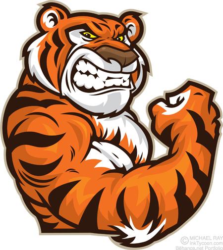 Tigers Digital Art Fribly