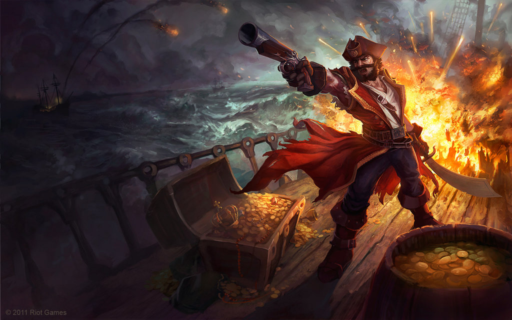 gangplank splash art - digital art