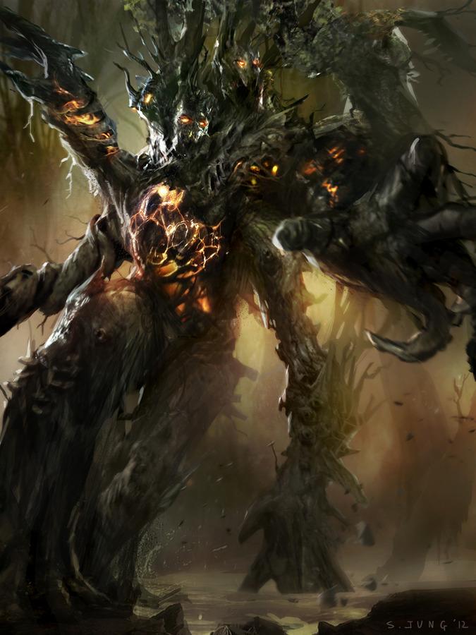 Tree Monster Digital Art Fribly