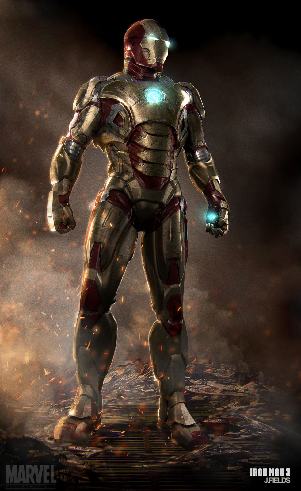 Iron Man 3 Mark 42 - Digital Art - Fribly