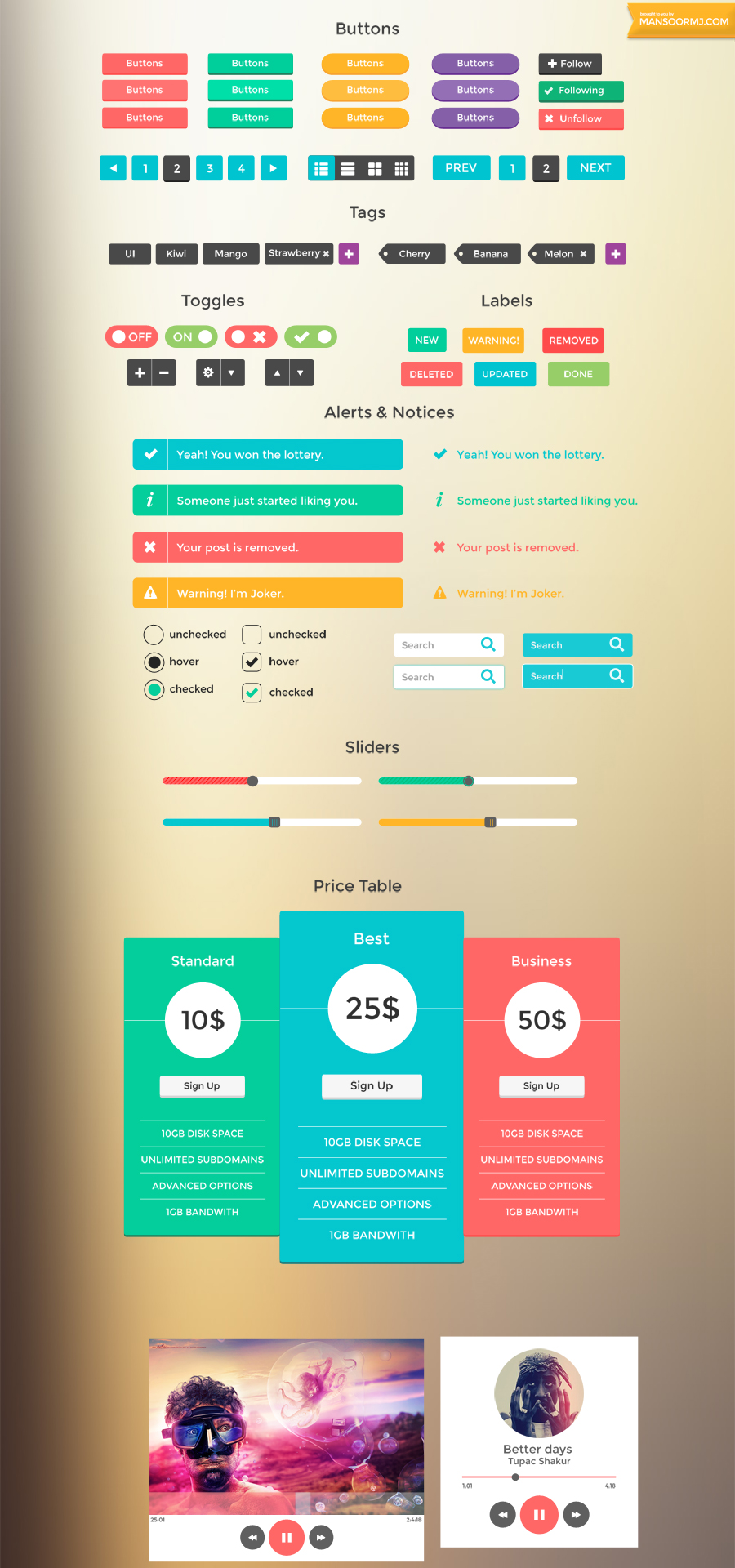 SmoothBerry - Free UI Kit