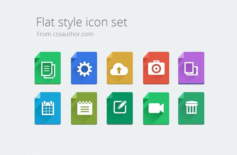 Modern Flat Style Icon Set Icons Fribly