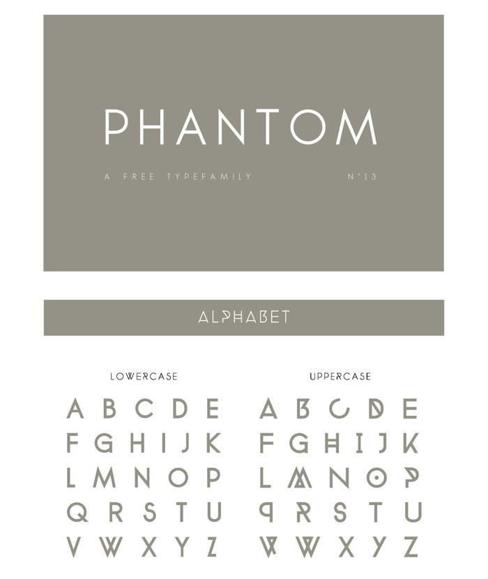 PHANTOM Free Font - Free Fonts - Fribly