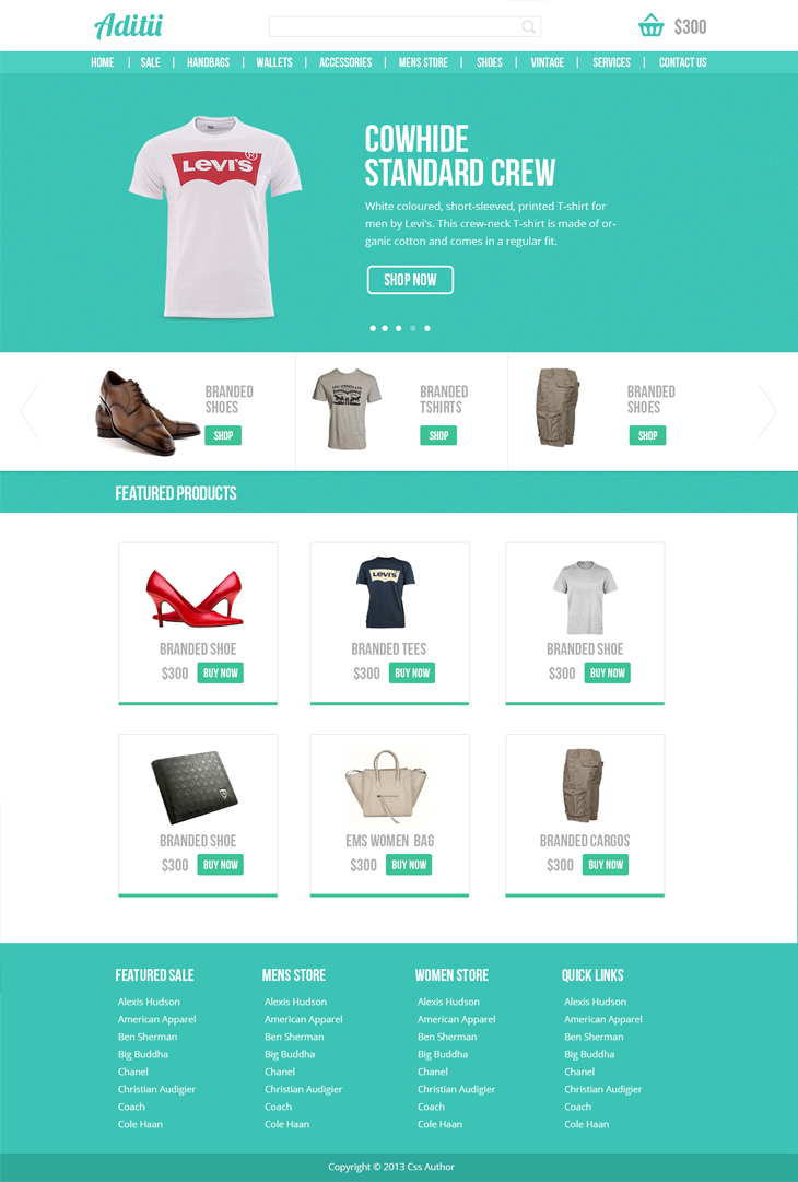 Premium Ecommerce Website Template - Freebies - Fribly