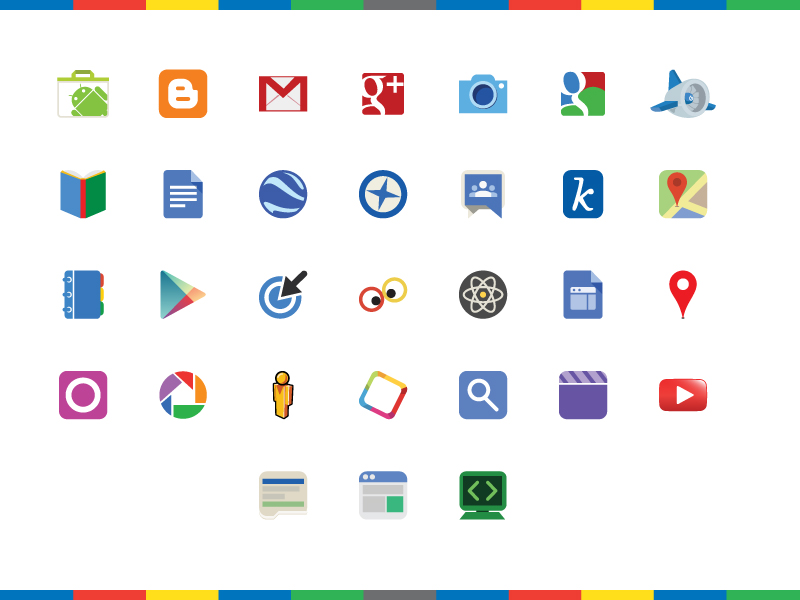 Google Products Logos - Icons - Fribly
