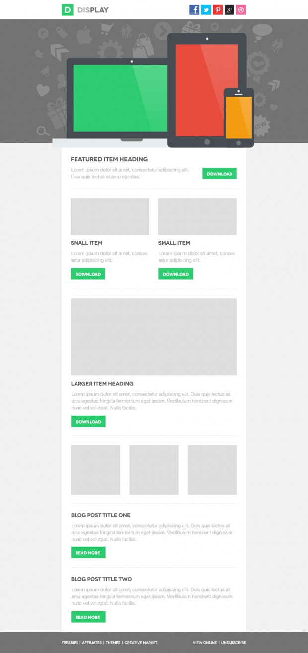 display email psd template freebies fribly. Black Bedroom Furniture Sets. Home Design Ideas