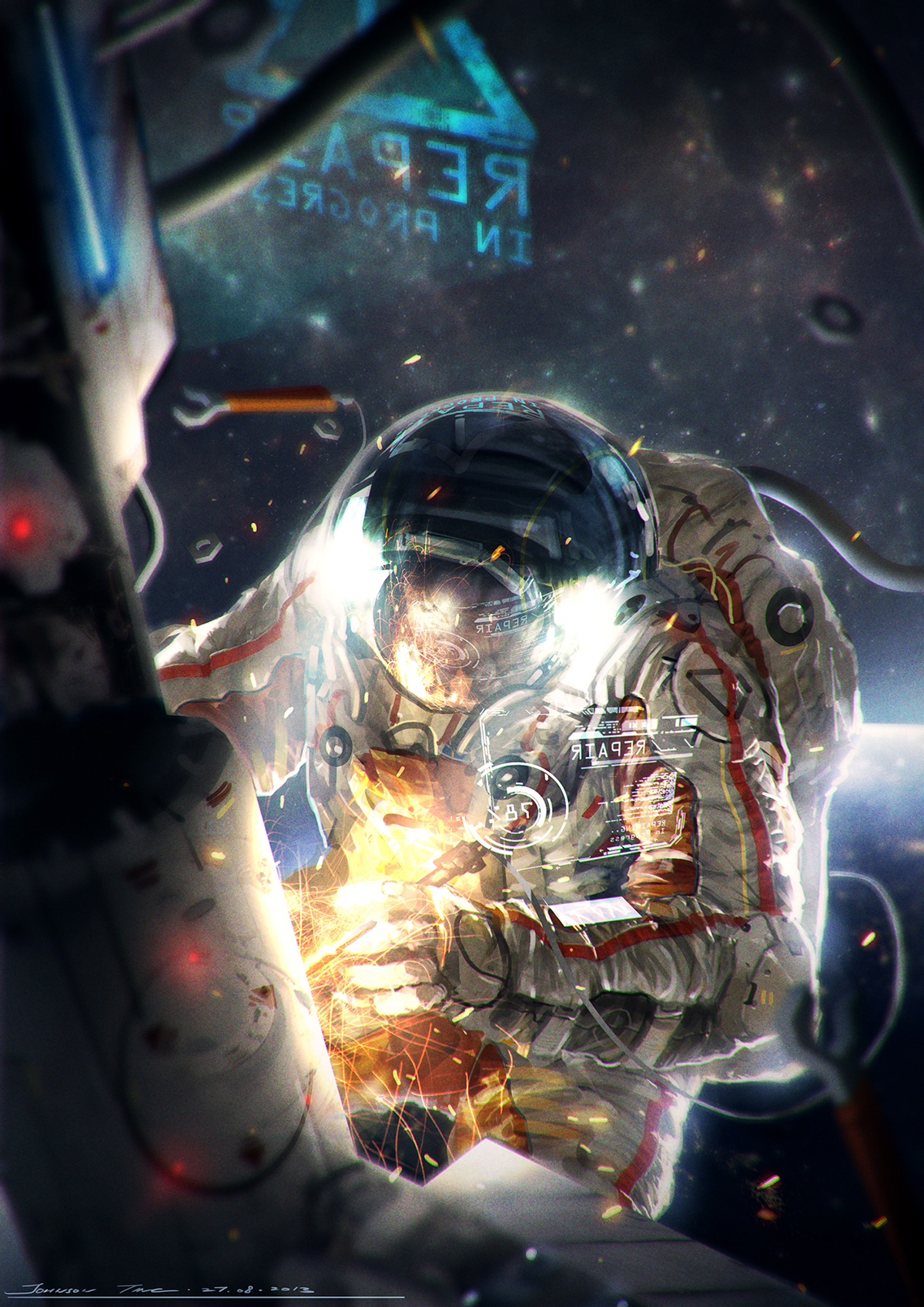How to Illustrate an Astronaut in Photoshop - Tutorials ...