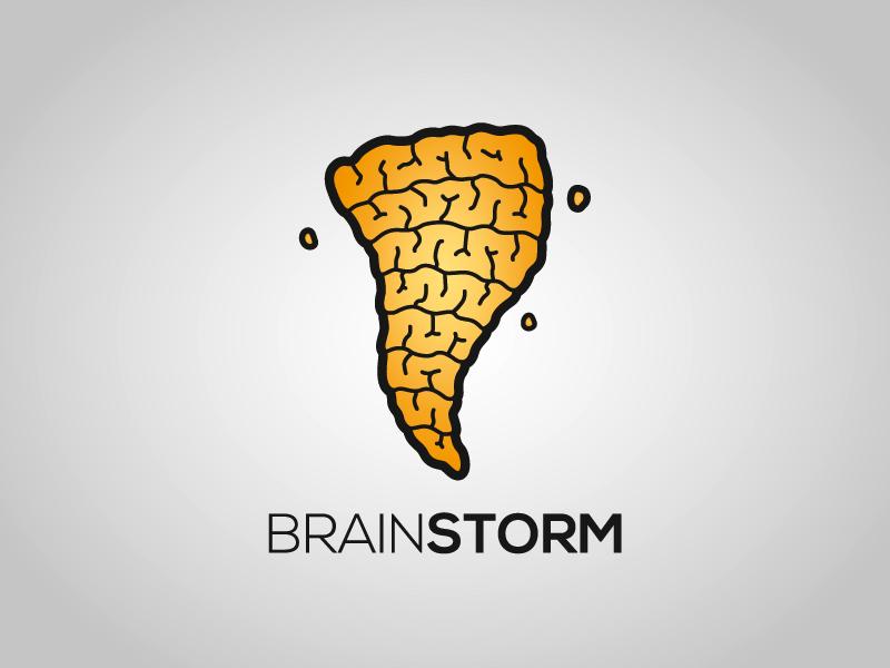 brainstorm logo - logo  u0026 identity
