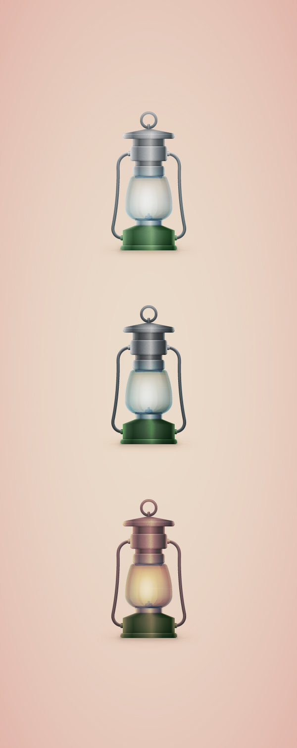 How To Create A Vintage Camping Lantern Icon In Adobe