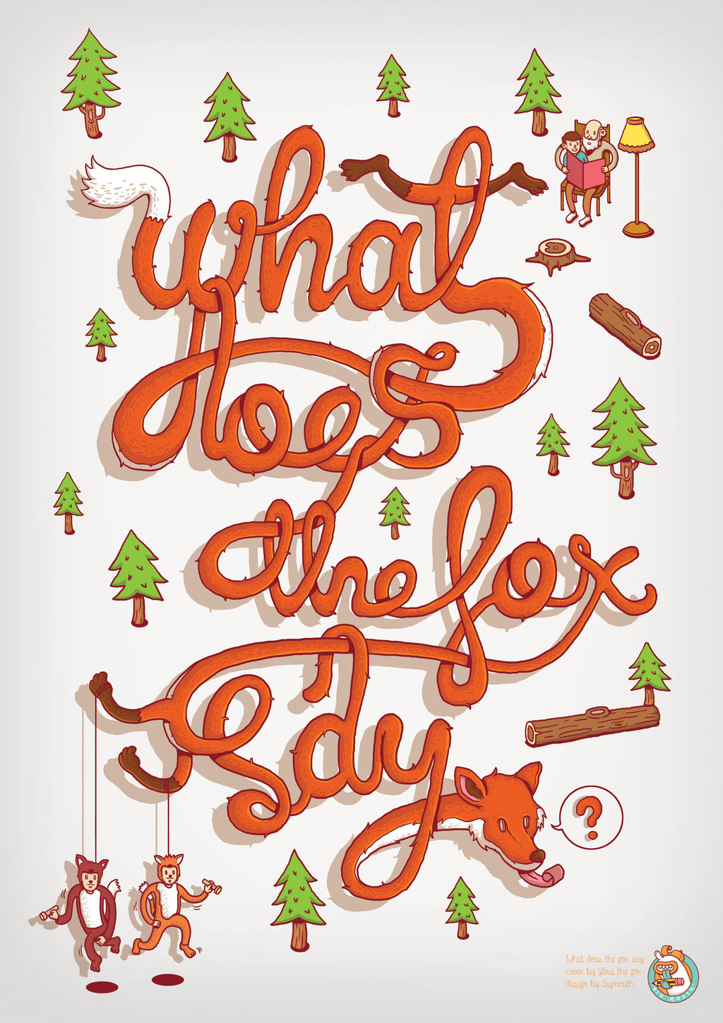 What Does The Fox Say - Typography - Fribly