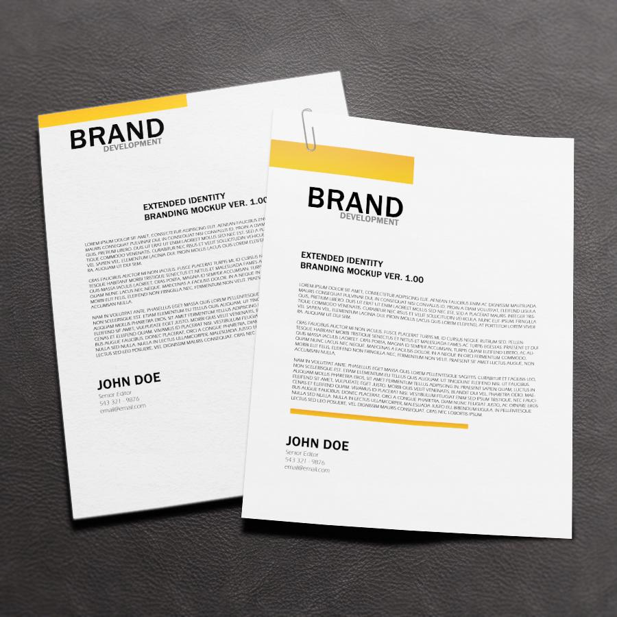 Letterhead Psd Size 25 Corporate Letterhead Templates 25: Free Letterhead Mock-up