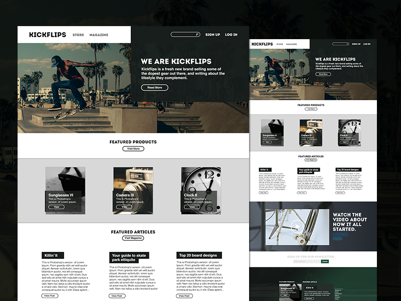 picture resume template kickflips free website template freebies fribly 23995