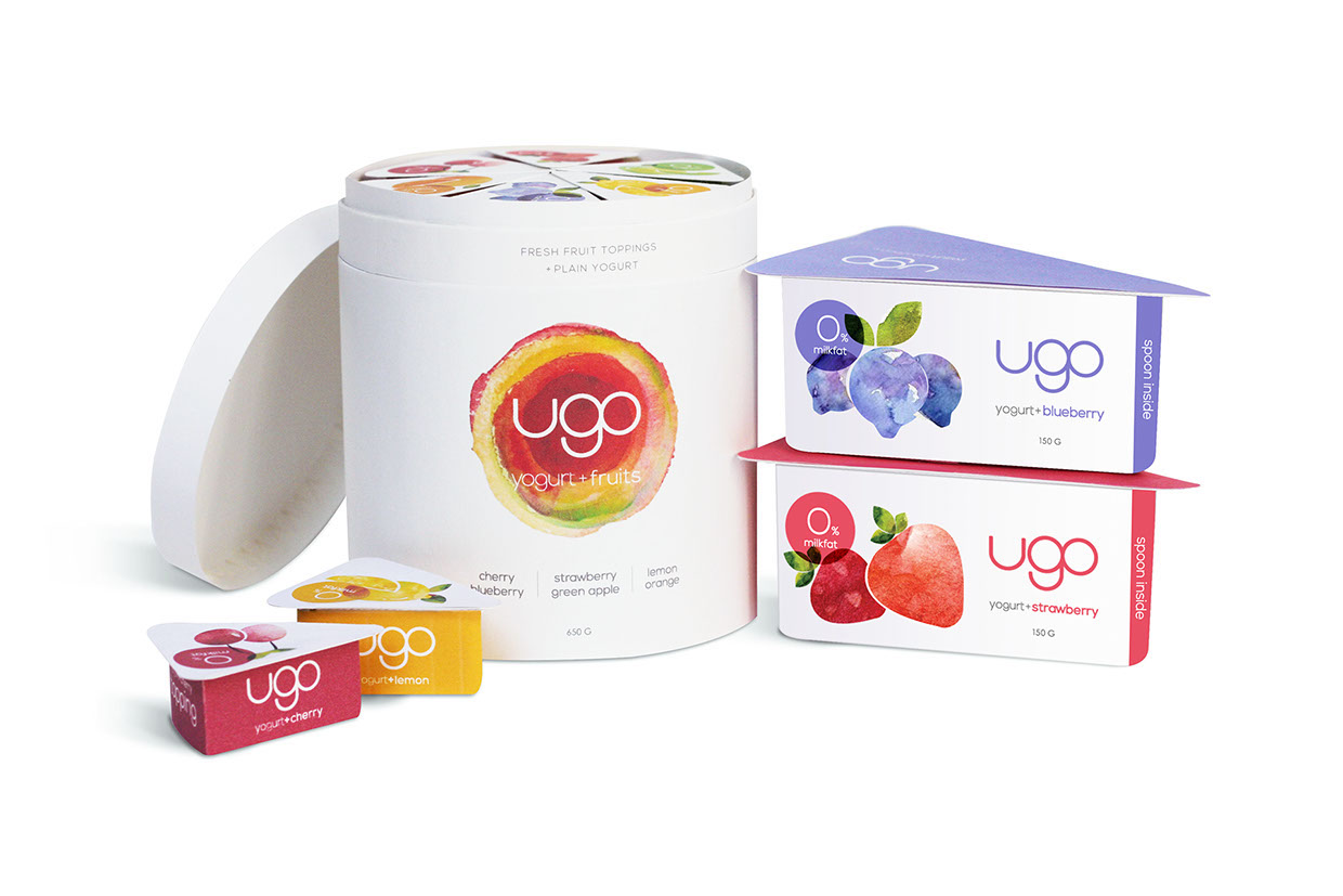 Quot Ugo Quot Yogurt Packaging Design Packaging Design Fribly