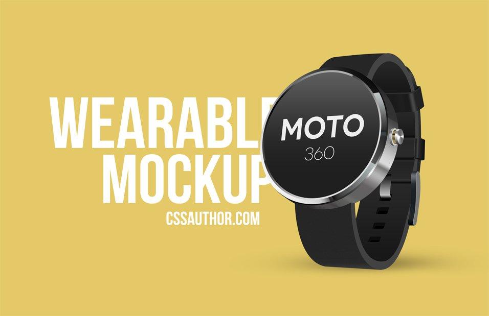 Wearable Mockup Design Smart Watch Freebies Fribly