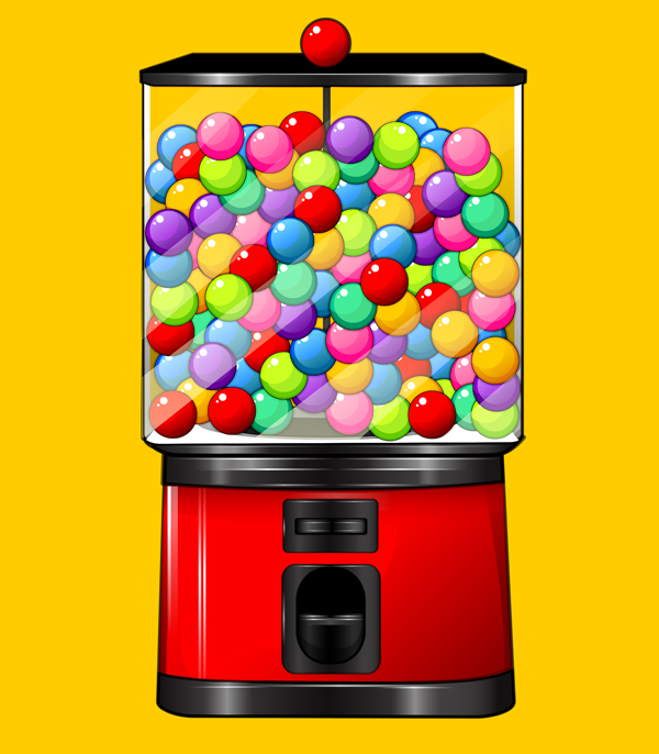 create a candy gumball machine illustration in adobe