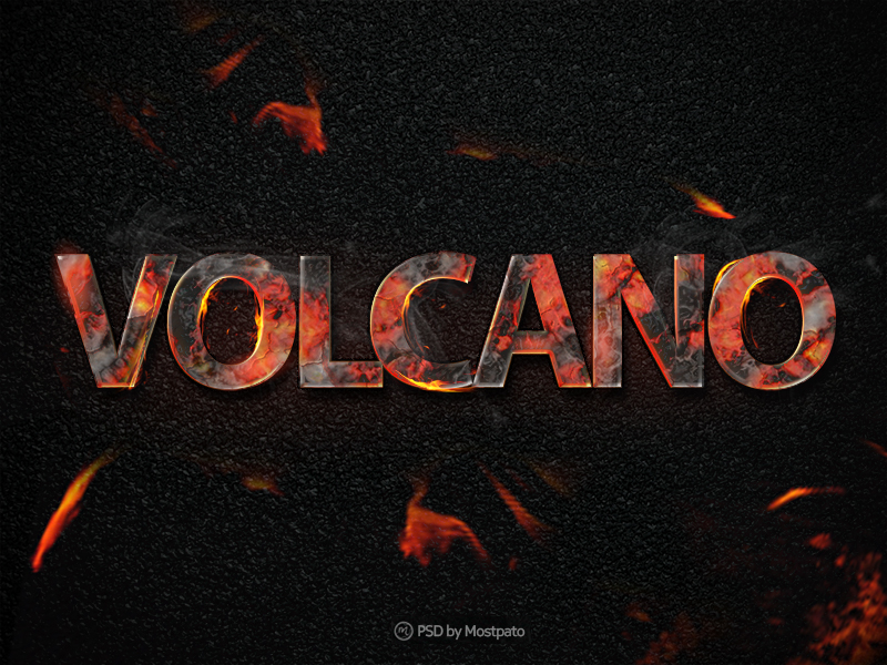 Business Card Template free business card template word : Volcano Fire - Text Effect - Freebies - Fribly