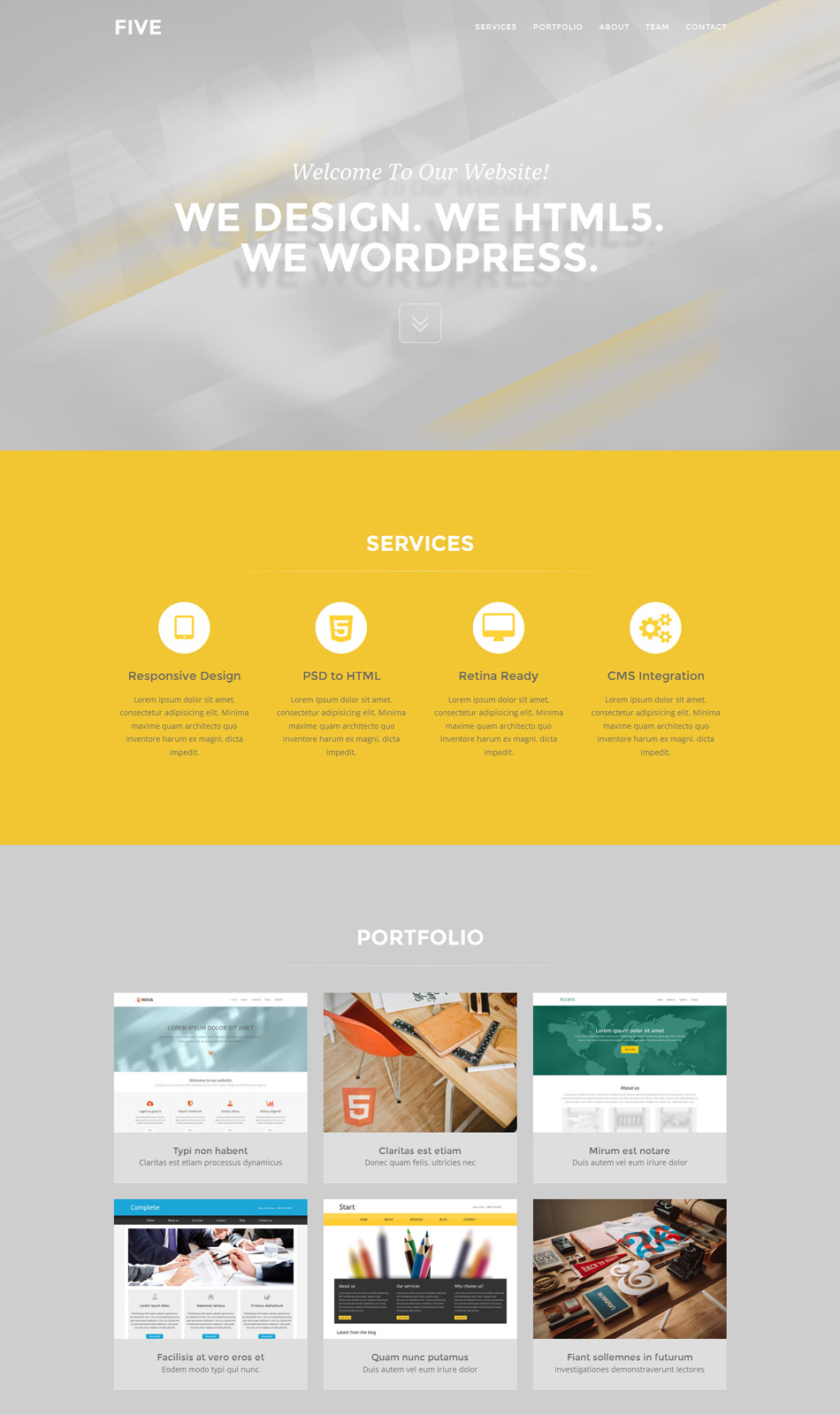 five free one page bootstrap template freebies fribly
