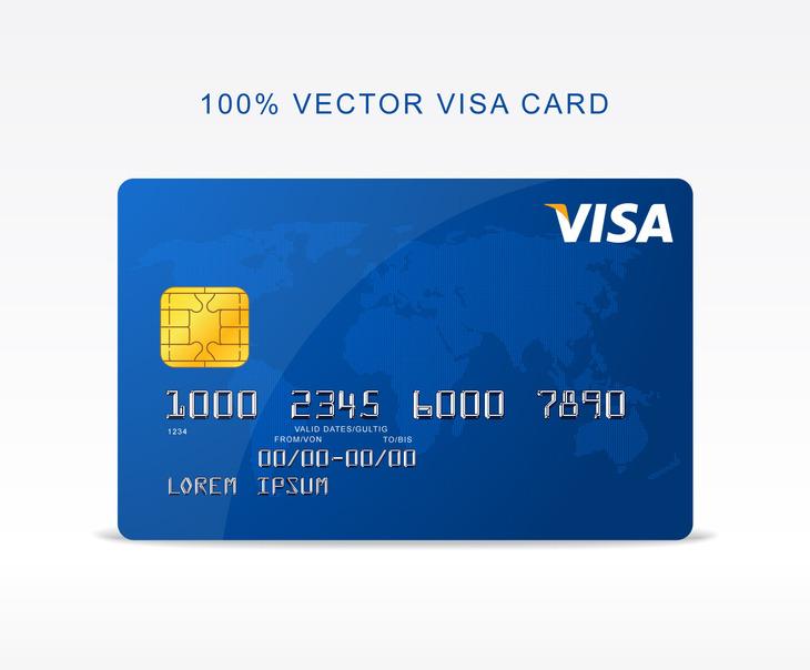 Free Vector Visa Credit Card - Freebies - Fribly