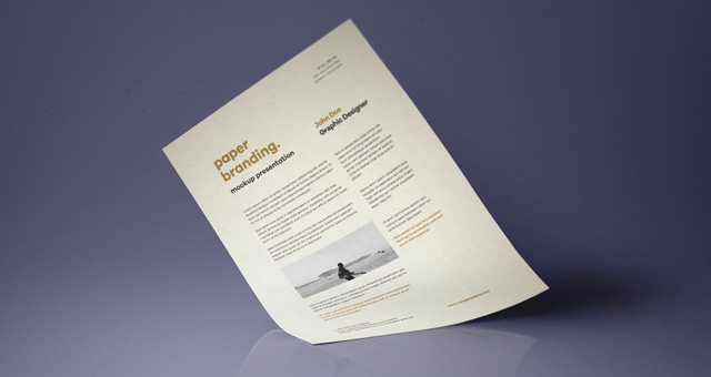 a4 paper mock-up - freebies