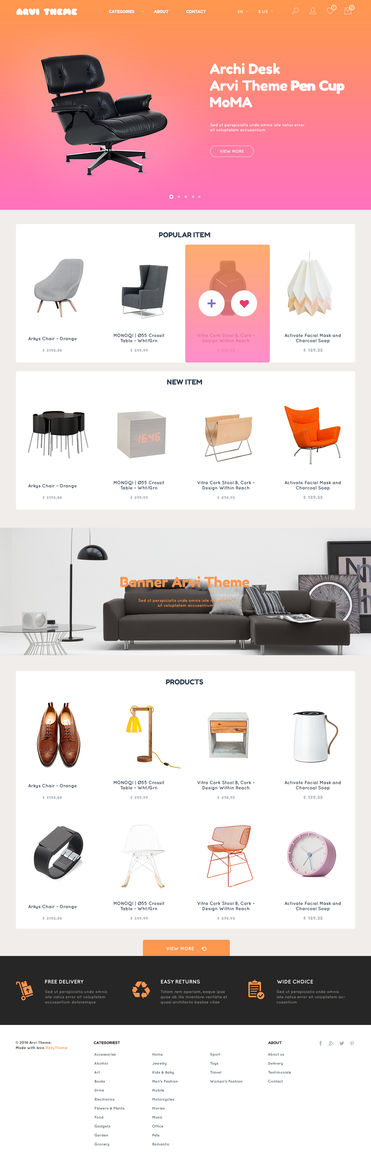 Arvi free e commerce website template freebies fribly for E commerce sites templates