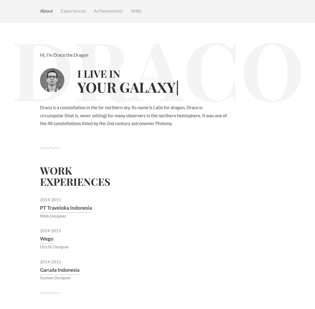 Free personal resume website template freebies fribly for Personal resume website templates free download