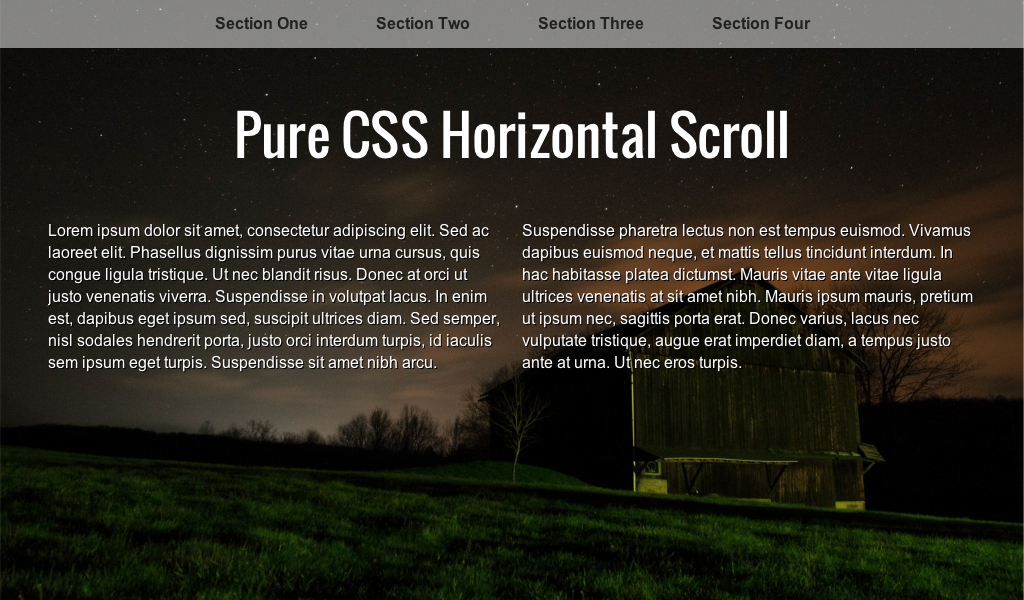 Pure CSS Horizontal Scroll - Coding - Fribly