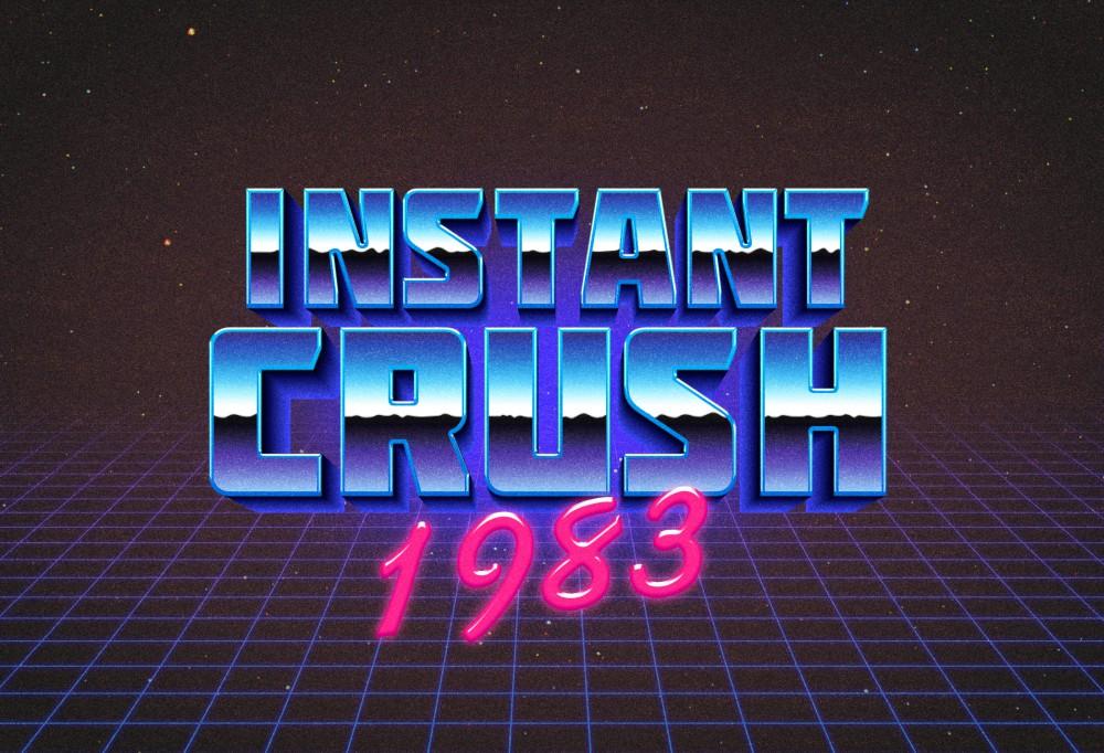 80s Retro Typography Effect Freebies Fribly