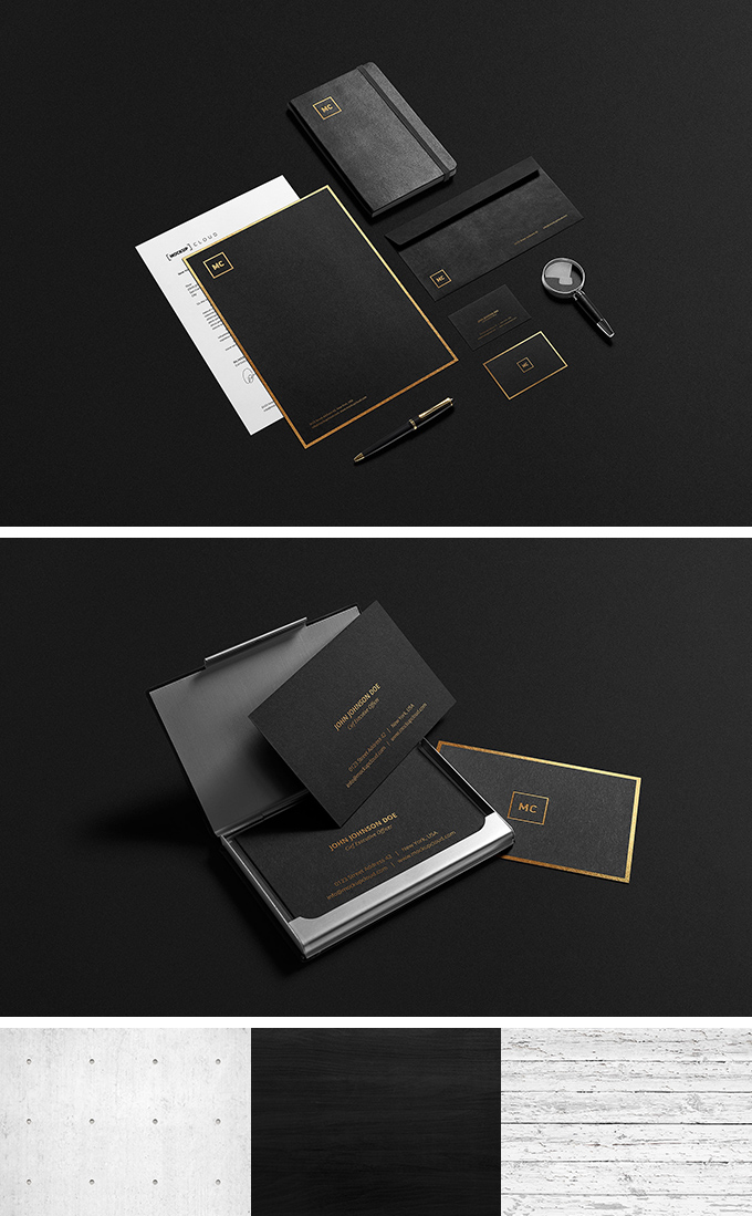 picture resume template black and gold stationary mockup freebies fribly 23995