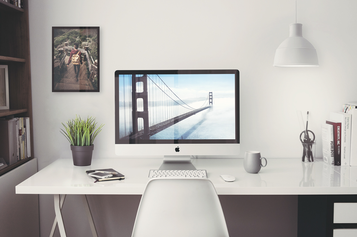 Free Imac 5k Retina Office Mockup Freebies Fribly