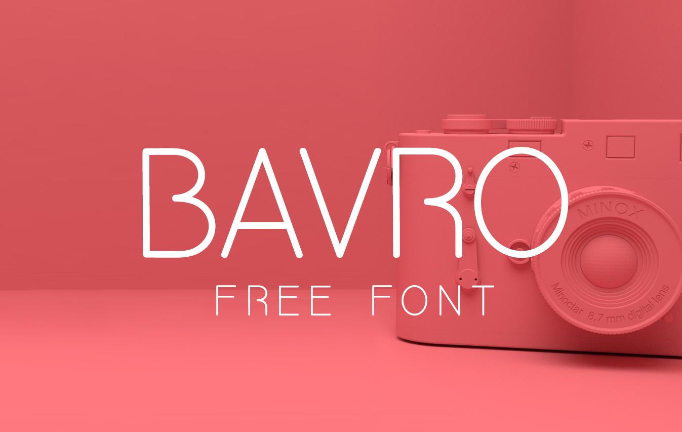 bavro free font - free fonts