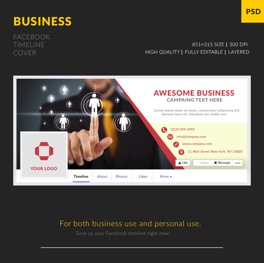 Free business facebook cover template freebies fribly pronofoot35fo Image collections