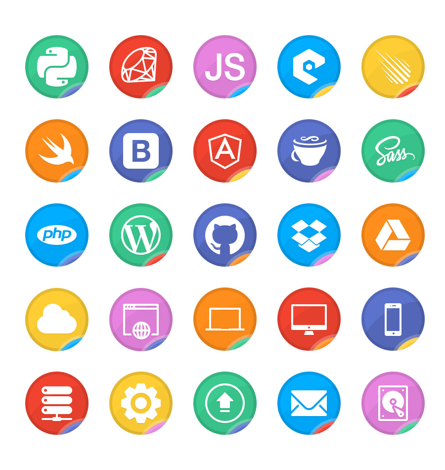 dev up  a free web developer icon set - icons