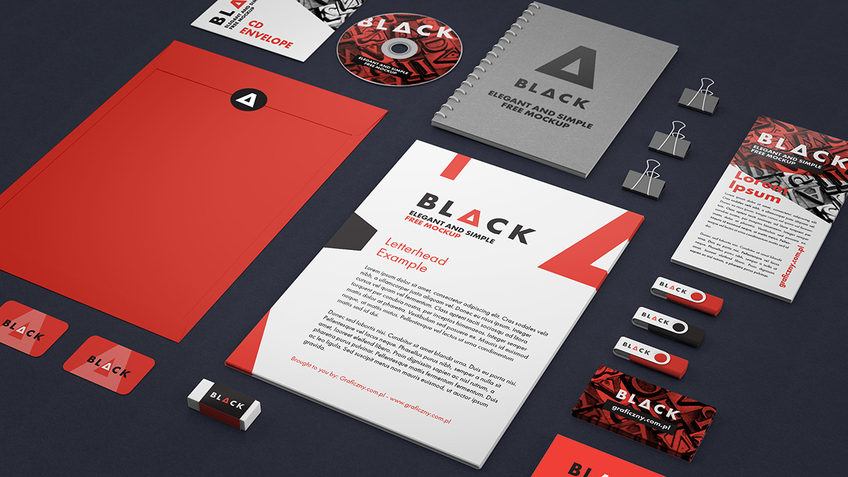 free corporate identity mockup - freebies - fribly, Powerpoint templates