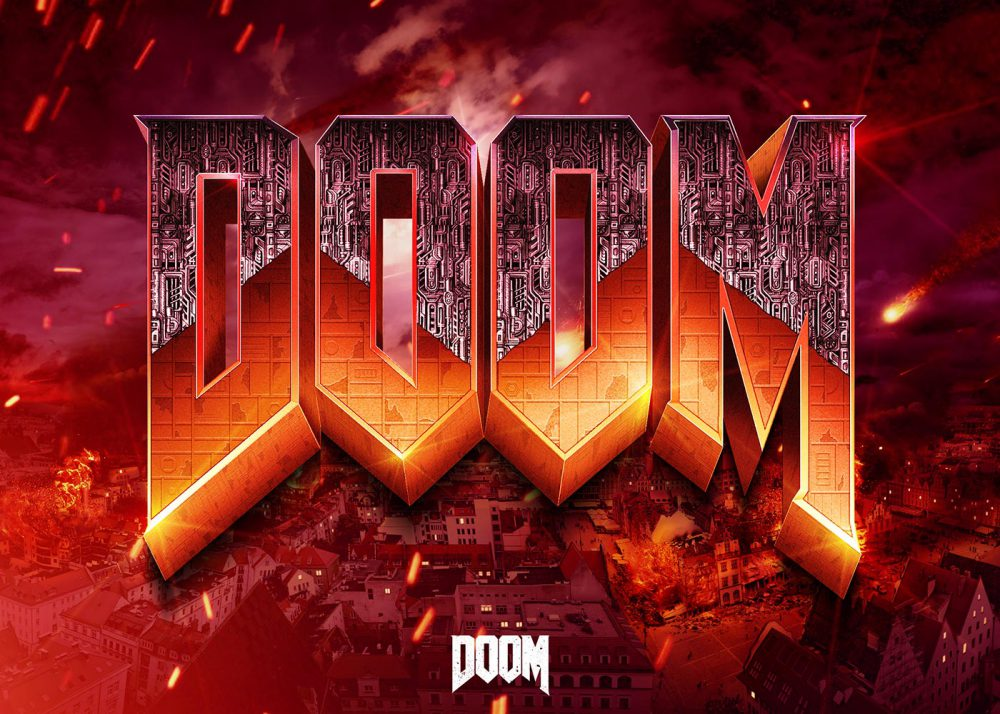 how to create the doom logo in photoshop cc - tutorials
